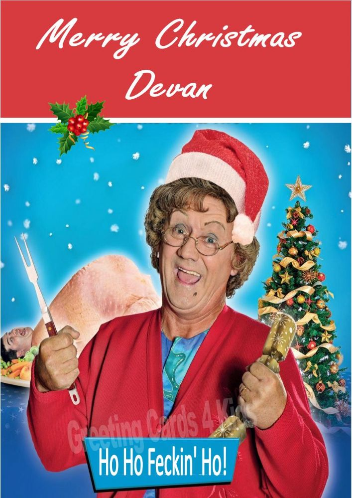 Personalised Mrs Brown S Boys Christmas Card Design 1